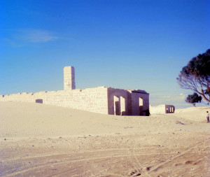Sand gradually encroaches upon the remains of The Old Telegraph Station near Eucla, Western Australia