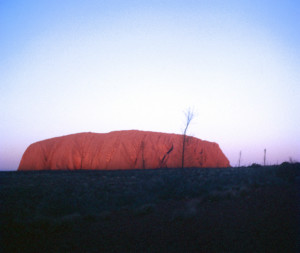 Ayers Rock at sunset, Northern Territory