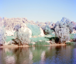 A tranquil scene within Geikie Gorge which is near Fitzroy Crossing in Western Australia