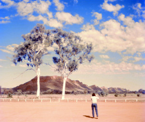The 'twin' ghost gums to the south-west of Alice Springs
