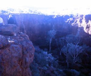 A circular pool in Dales Gorge, Western Australia