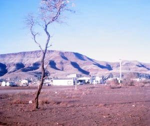 The asbestos mining town of Wittenoom, as viewed from the caravan park