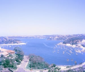 Sydney's Middle Harbour as observed from Edgecliffe Esplanade, in the suburb of Seaforth, New South Wales
